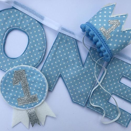 1st Birthday Set - Blue