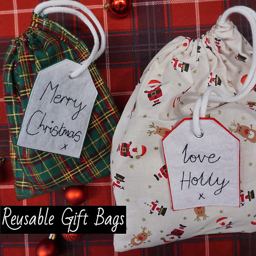 Reusable Gift Bags + Tag