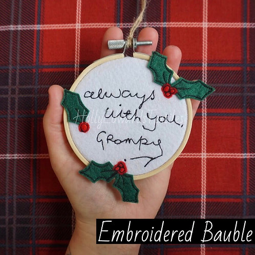 Embroidered Bauble Hoop
