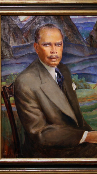Portrait of James Weldon Johnson by Laura W. Waring