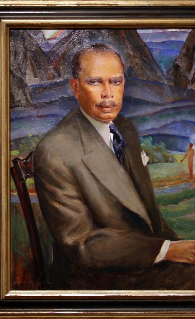 Portrait of James Weldon Johnson by Laura W. Waring