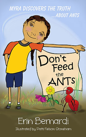 "The book cover for ""Don't Feed the ANTs"". It shows Myra, the main character in the book, which is available in both eBook and printed formats at Amazon."