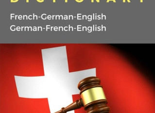 Our new Trilingual Swiss Law Dictionary