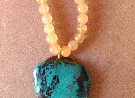 Collier Jade & Turquoise