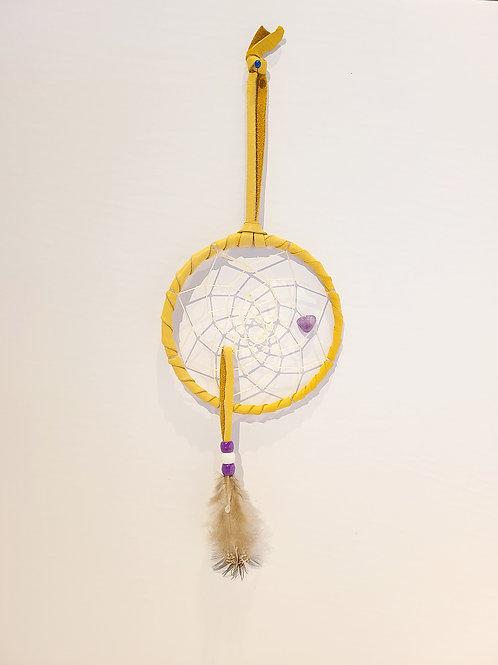 "4"" Dreamcatcher (Single Feather) - Mary Stevens"