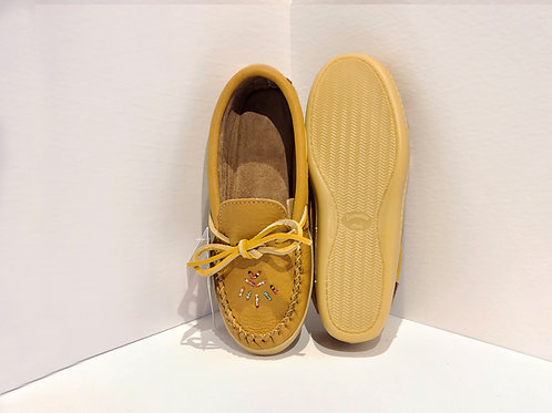 Women's Moccasin with Sole & Beads