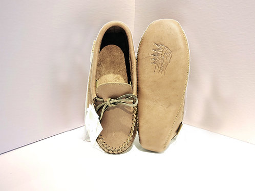 Men's Moccasins with Padded Sole, Woodstain