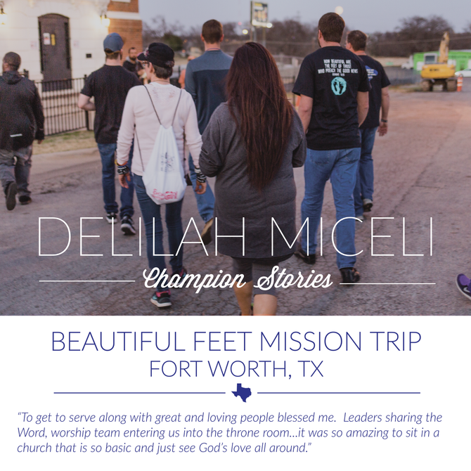 Beautiful Feet Trip- Delilah Miceli