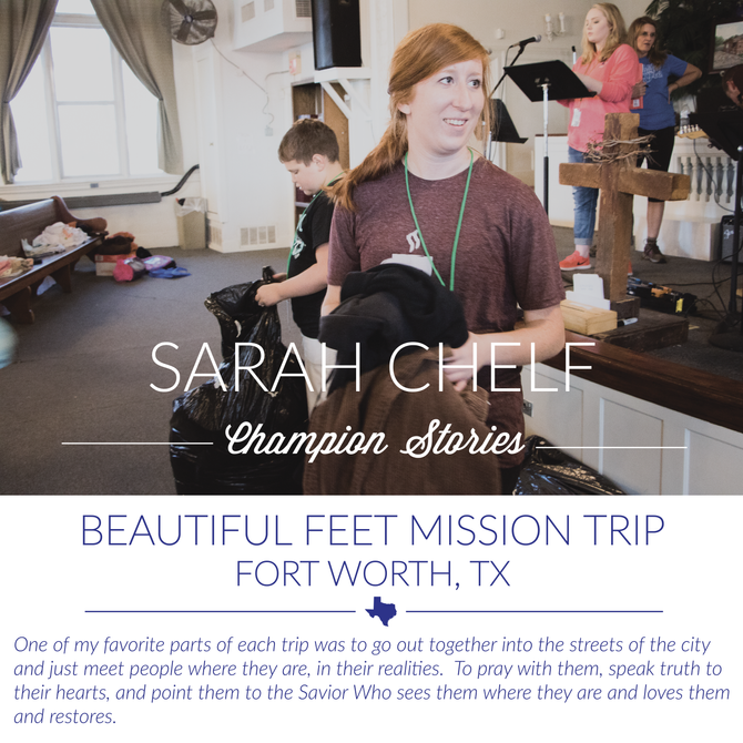 Beautiful Feet Trip- Sarah Chelf