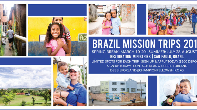Join us for Brazil in 2016!
