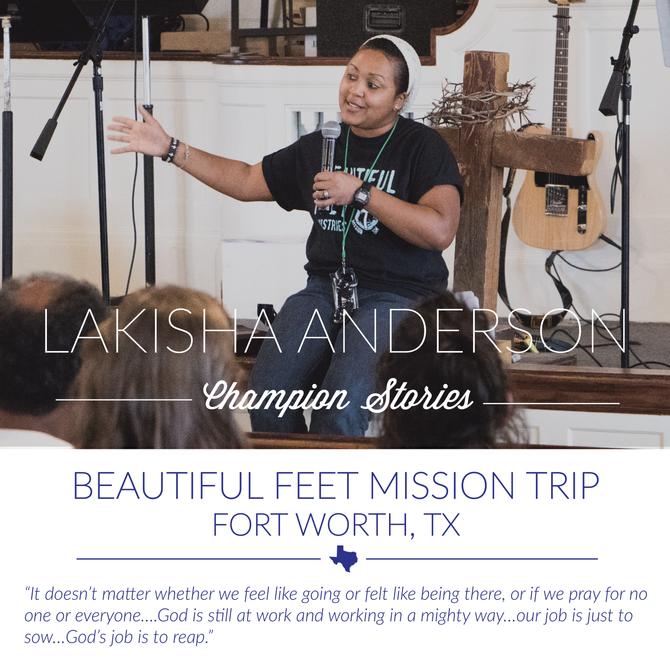 Beautiful Feet Trip- LaKisha Anderson