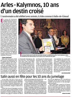 Journal  La Provence du 10 novembre