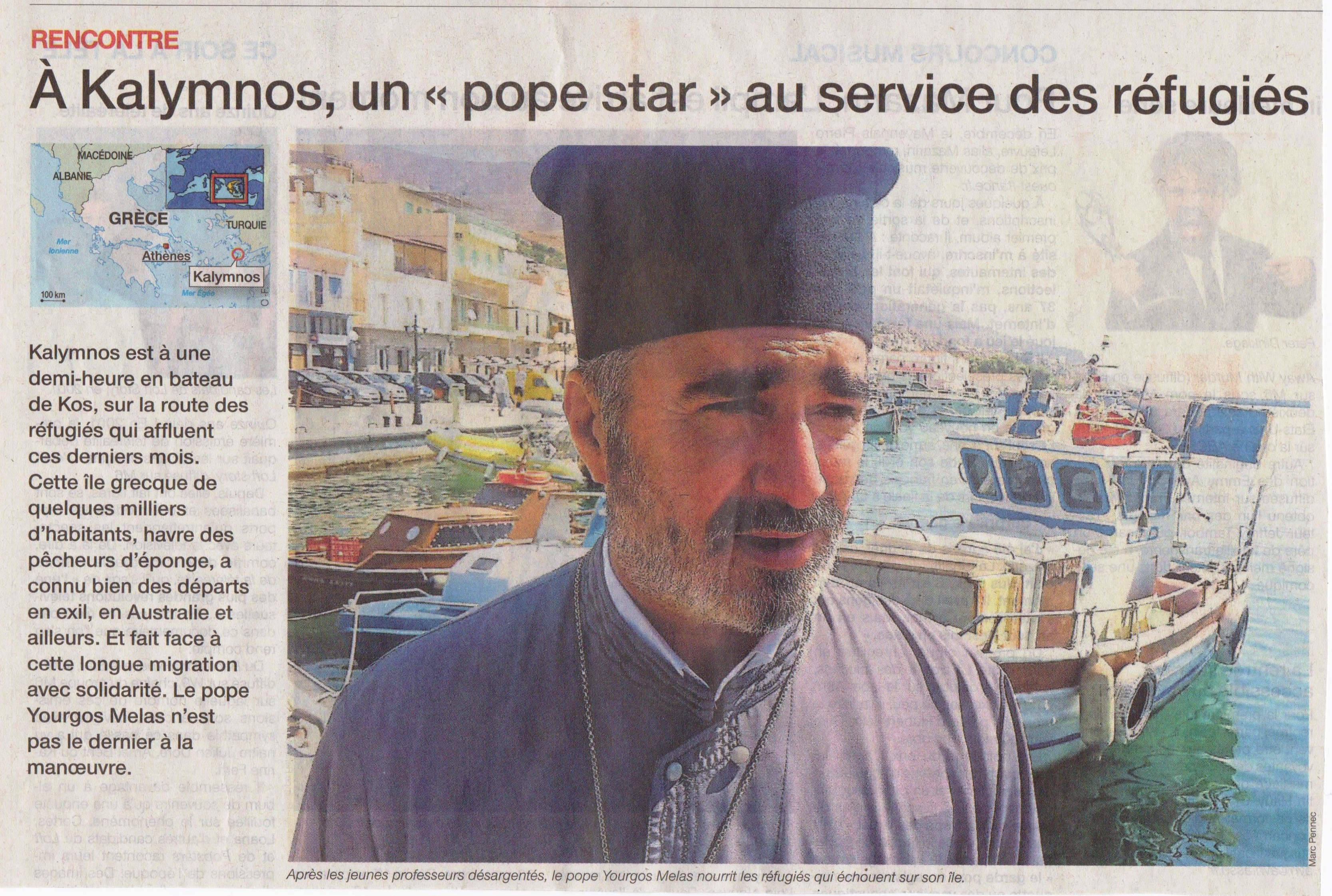 Kalymnos Article Ouest France