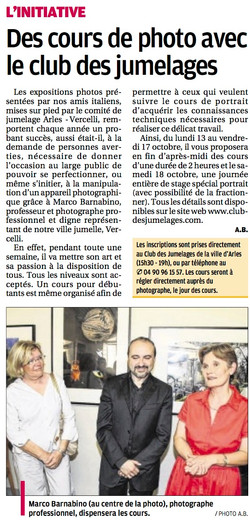 La Provence du 9 octobre 2014