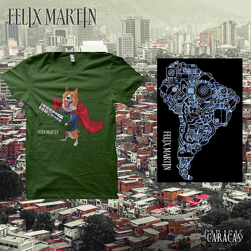 Caracas + Corgi T-shirt + Sticker + String Bundle