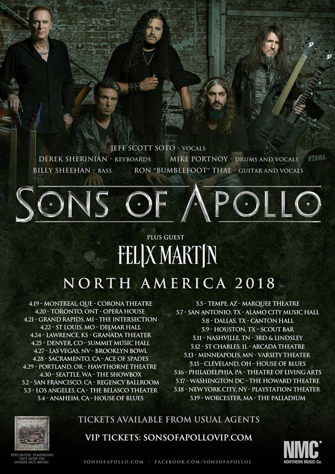 Touring with Sons Of Apollo (Mike Portnoy, Billy Sheehan, etc)