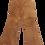 Thumbnail: Pantalon évasé en cuir - Taille M - 38/40