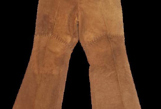 Pantalon évasé en cuir - Taille M - 38/40