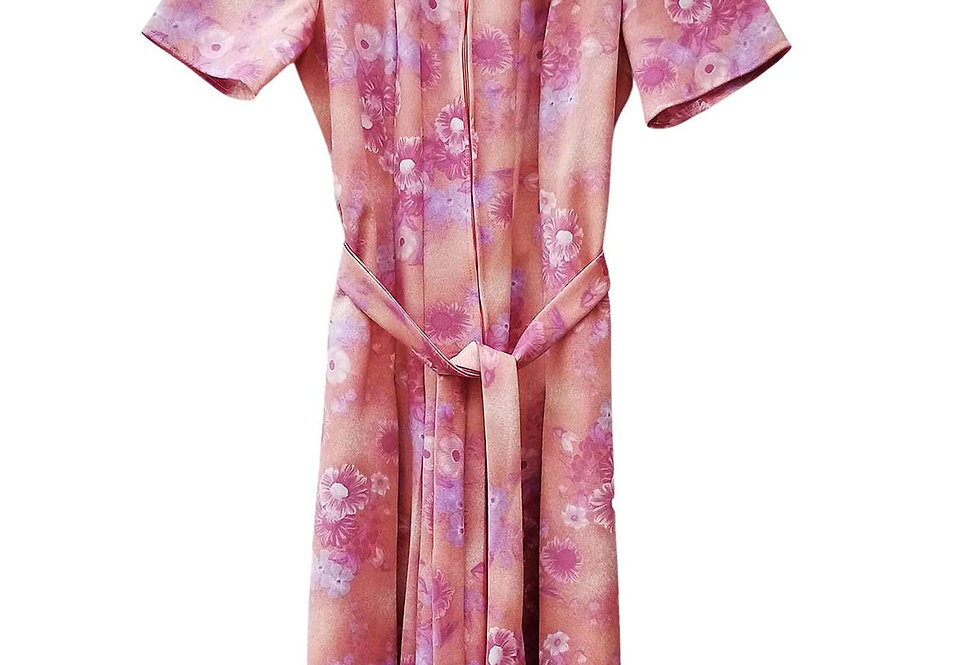 Robe 70s rose tendre - Taille M