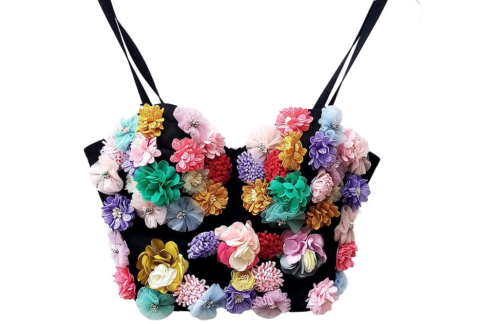 Bustier Fleurs Artisanal - Taille M