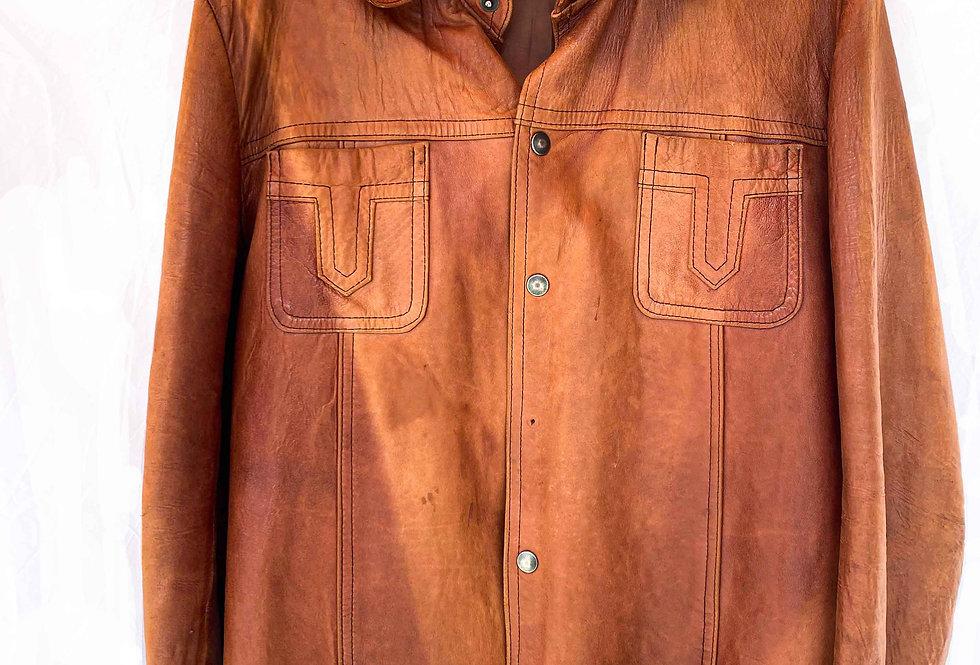 Surchemise cuir 70s - Taille M