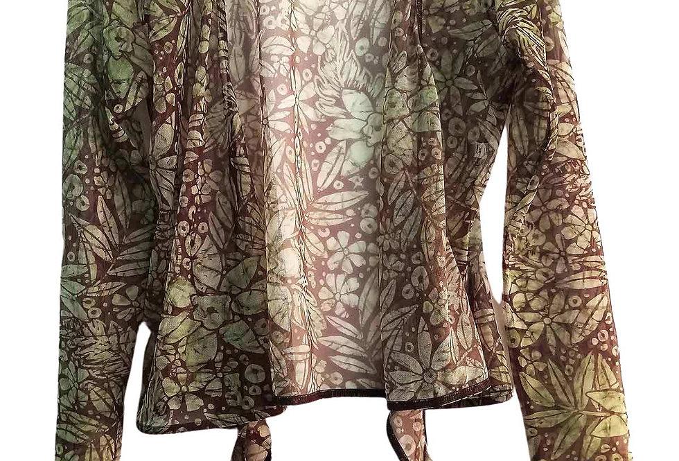 Gilet en mesh motif jungle - Taille S
