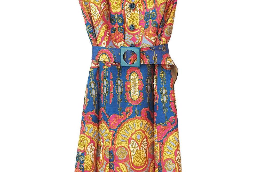 Robe en soie motif Cachemire - Taille S - 36/38
