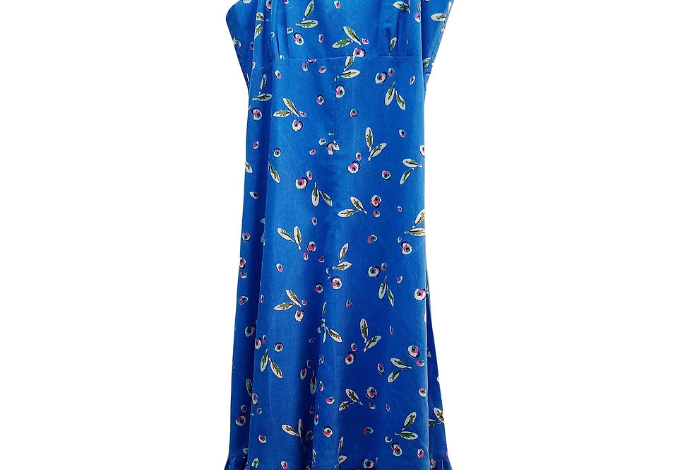 Robe Prairie Blue and Roses - Taille 40