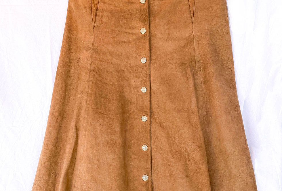 Jupe daim 70s - Taille 38