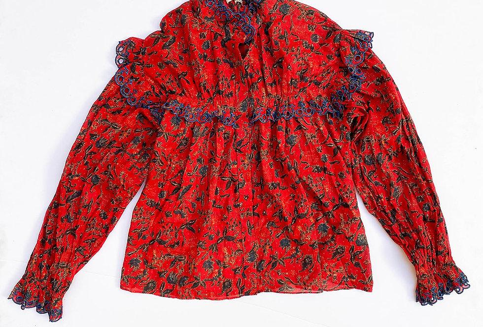 Chemisier fleuri « Isabel Marant Etoile » à fronces  - Taille 40