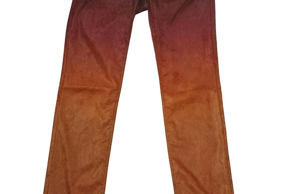 Pantalon faux cuir dégradé - Taille 34