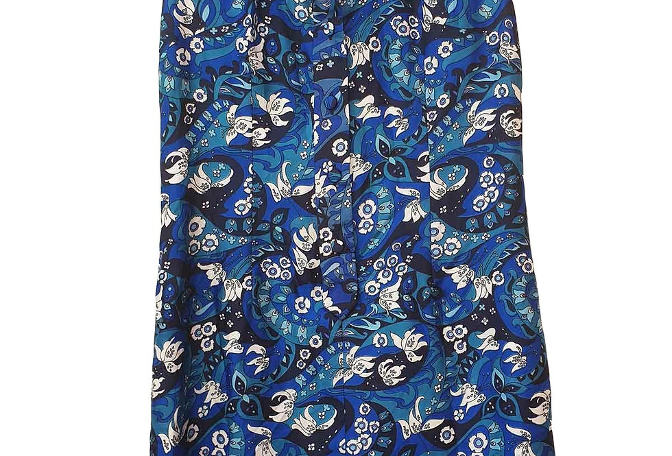 Robe Droite Psyché Bleue - Taille L - 40/42