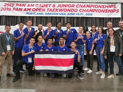 Costa Rica cierra su participación en Portland con diez medallas