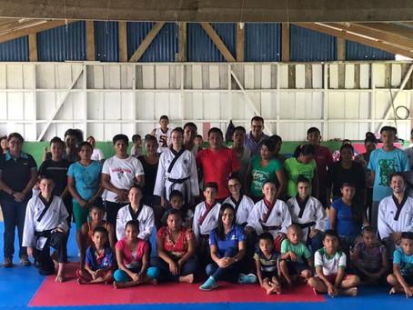 Taekwondo amplía su crecimiento en zonas indígenas junto al PANI y el ICODER