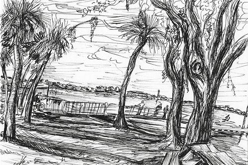 boat ramp at tocobagan park, drawing