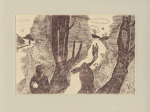 landscape (after munch), etching
