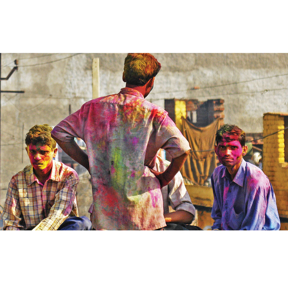 Celebrating Holi, India