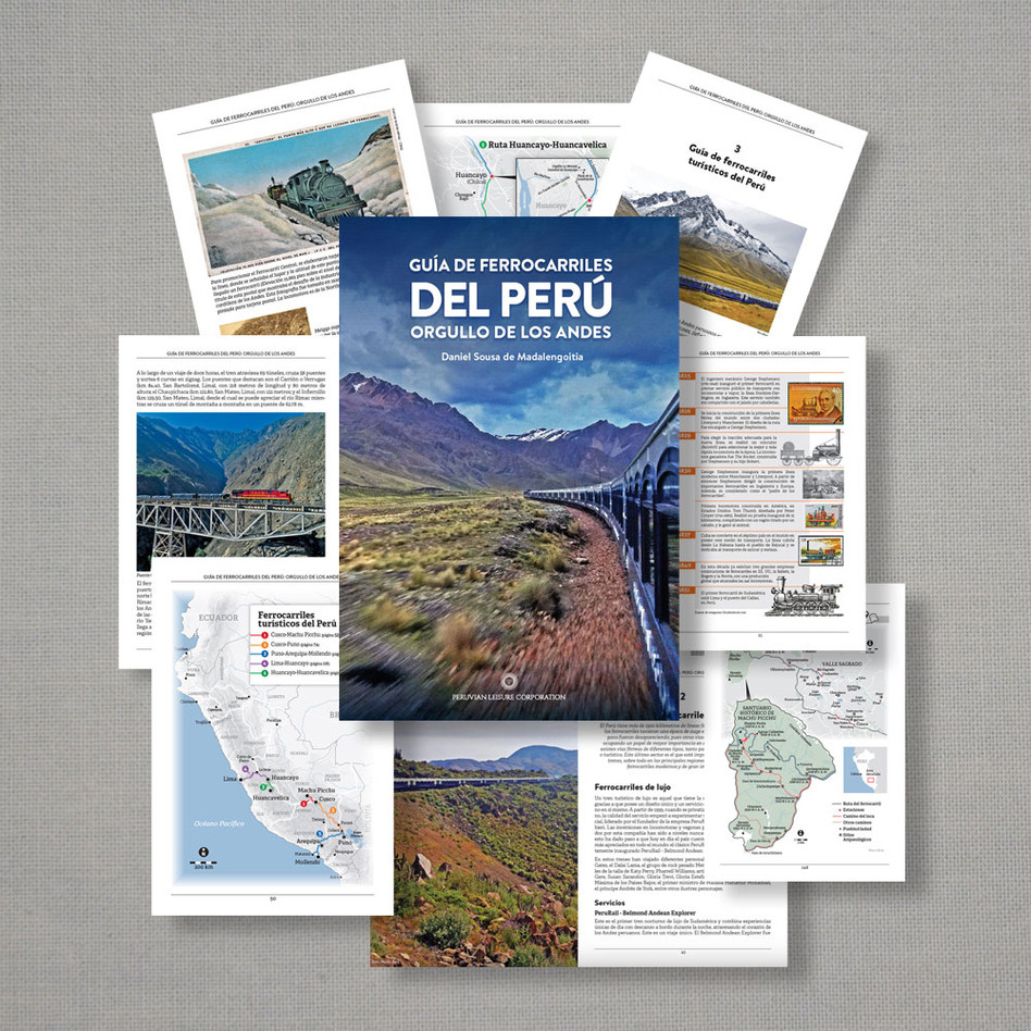 Peruvian Railways Book. Art direction, design, grahics, and 50% of the photos. (English and Spanish versions)