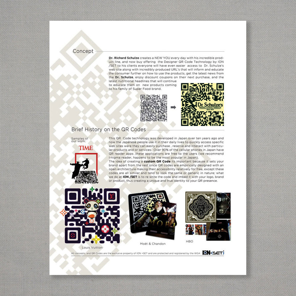 QR codes promo page