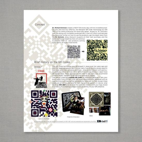 QR codes promo page