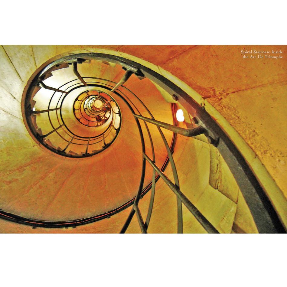 Staircase inside Arc de Triomphe, Paris