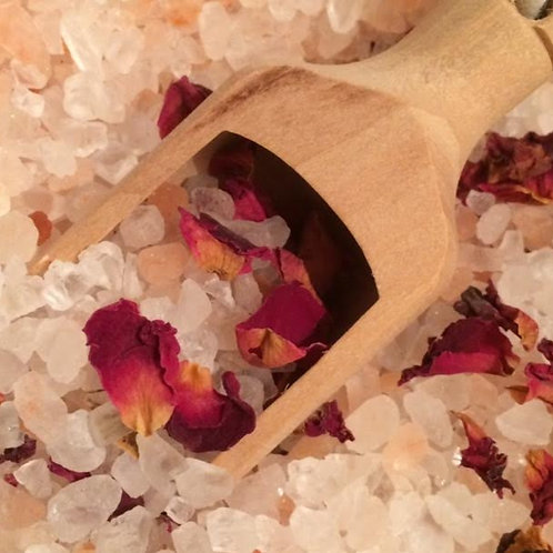 Organic rose infused Himalayan Salt for Baths
