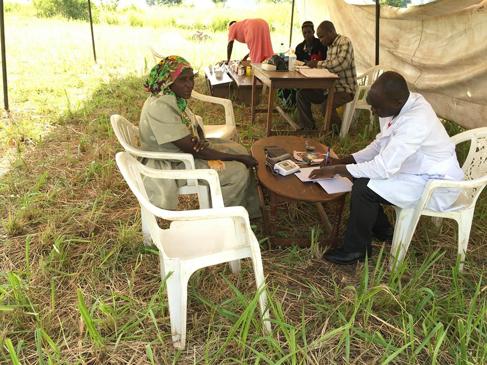 medical outreach tent