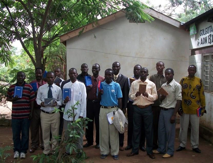 pastors receiving bibles