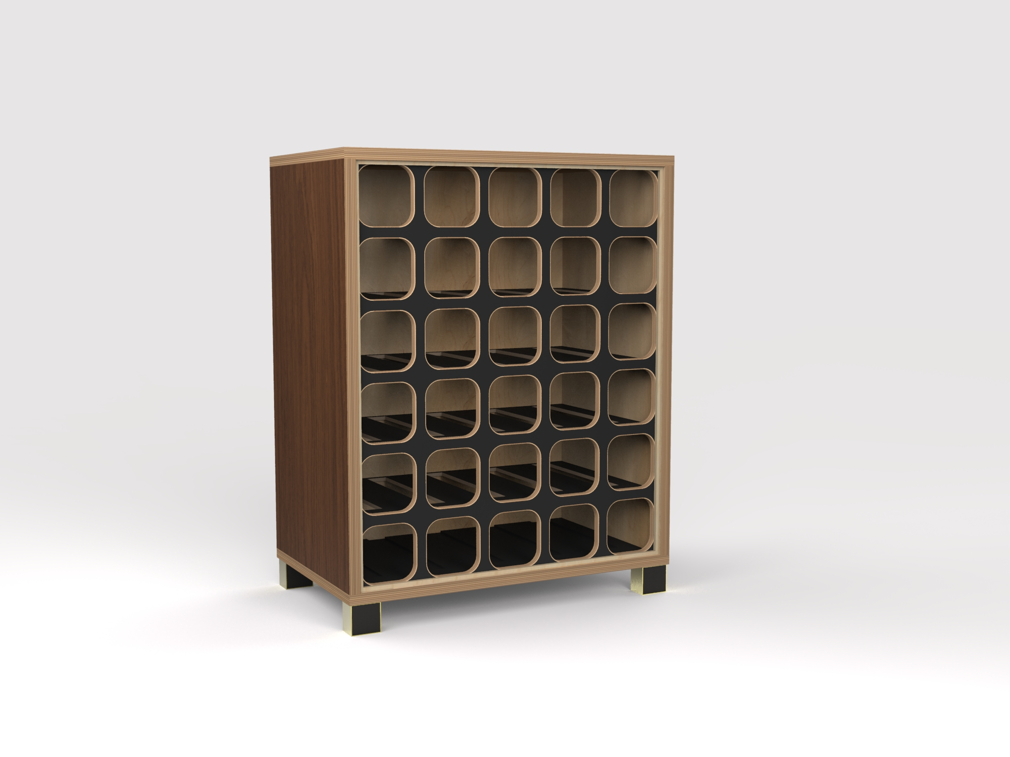 DT Wine Rack - walnut-blk