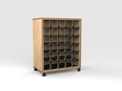 DT Wine Rack - maple-blk
