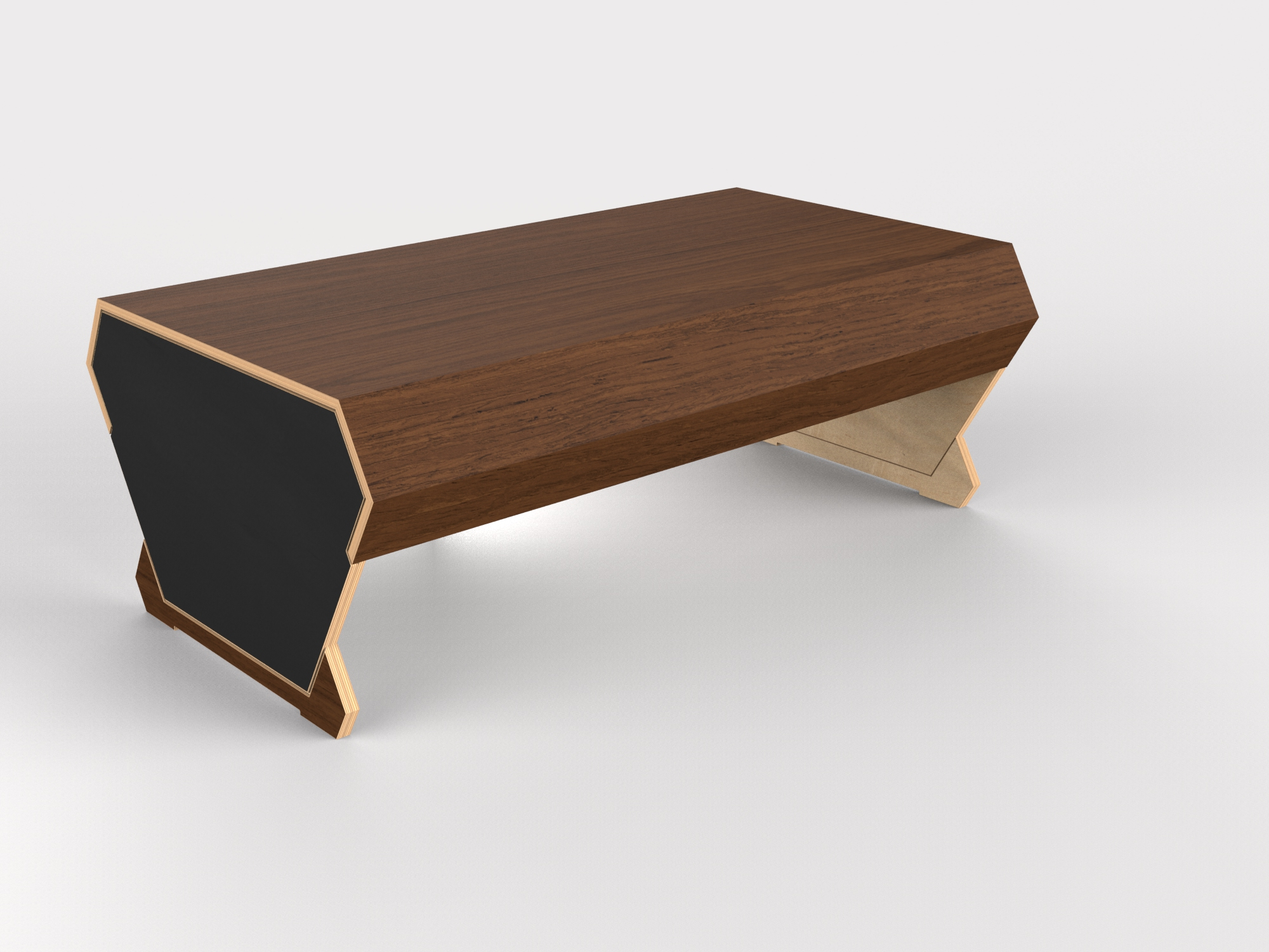 Hex Coffee Table (walnut)