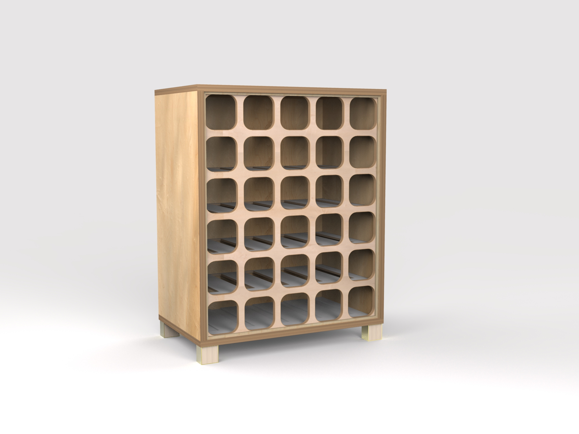 DT Wine Rack - maple-wht