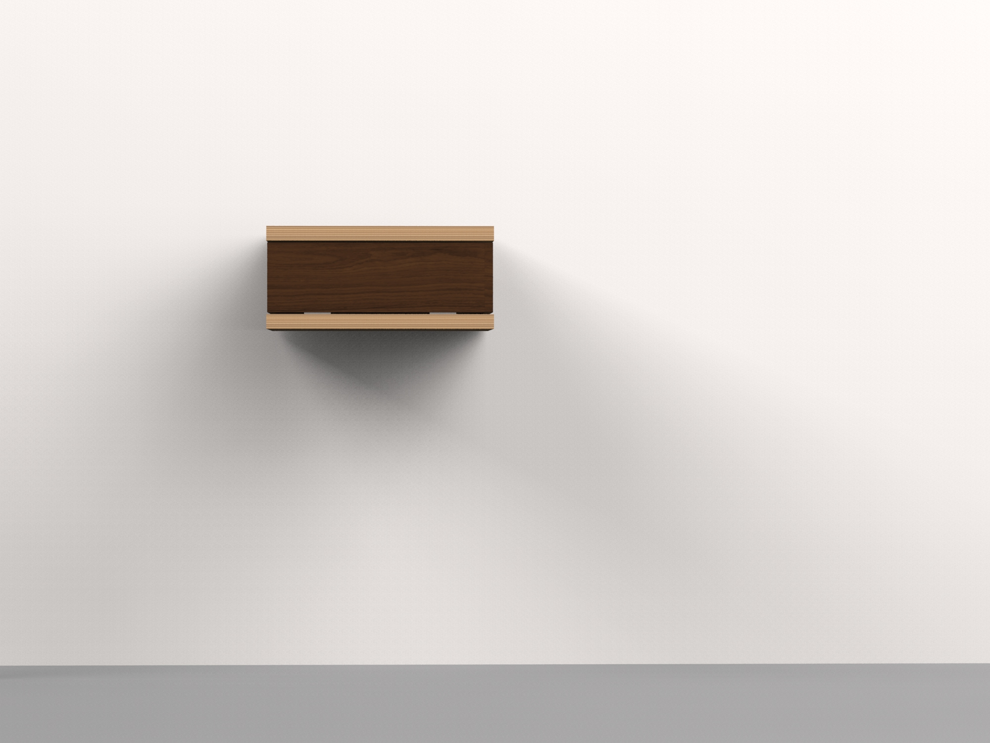 Floating C Side table-walnut