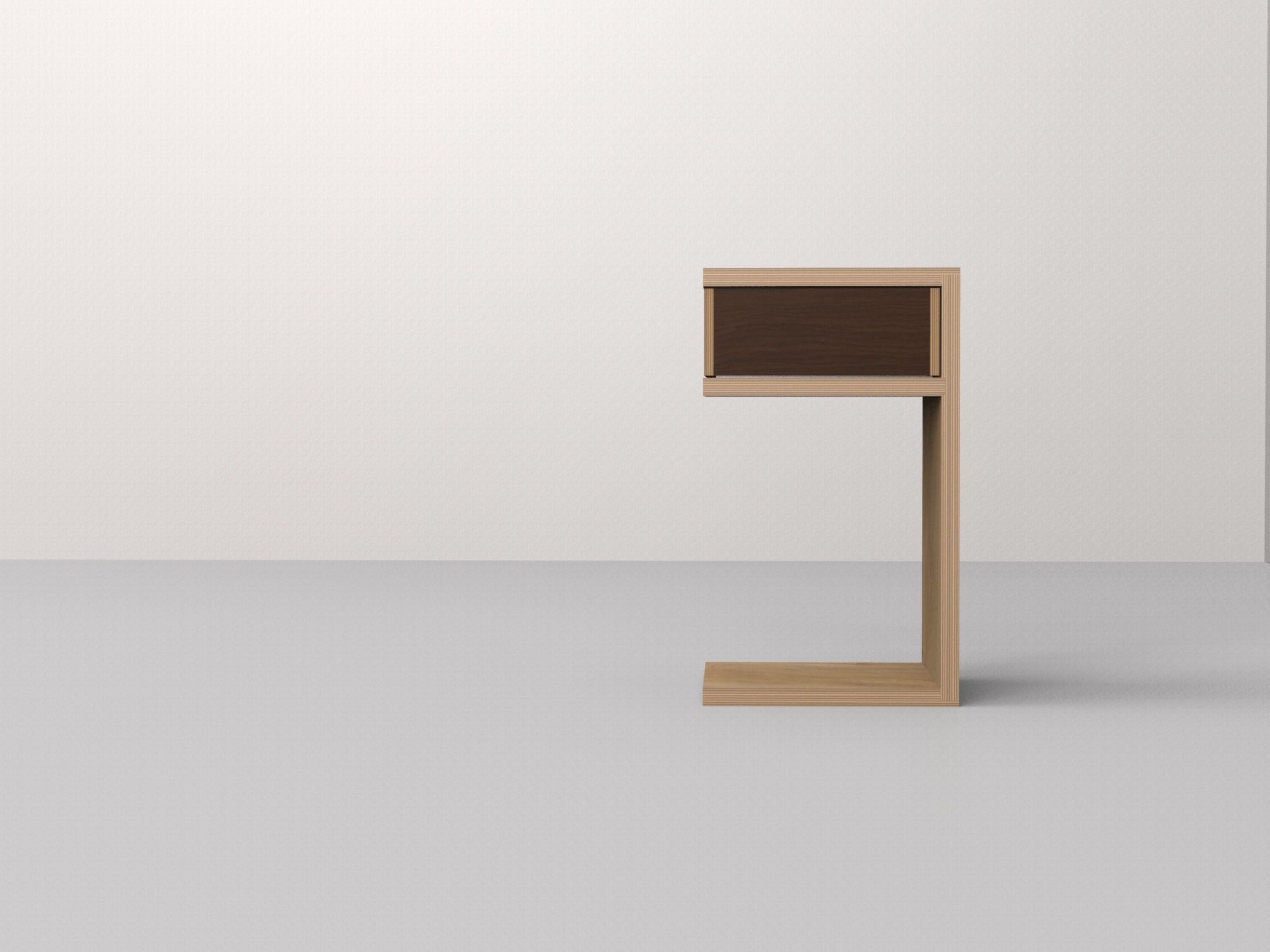 E side table RSV - walnut
